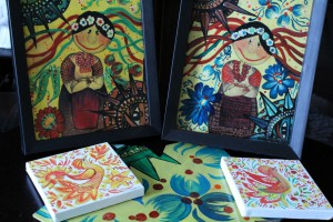 If you want to see how folklore paintings are created, drop by my website-