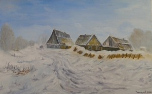 collection of winter paintings by Helen Polishuk (3)