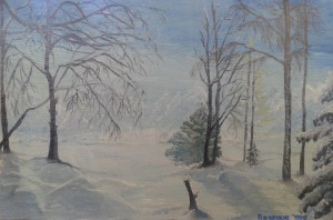 collection of winter paintings by Helen Polishuk