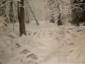 collection of winter paintings by Helen Polishuk (4)